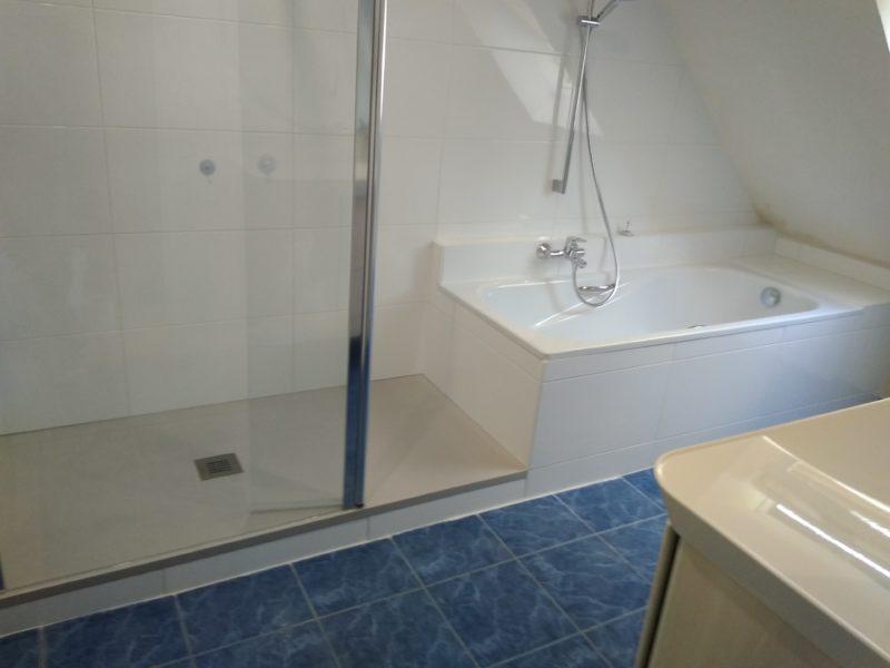 Douche et baignoire mixte